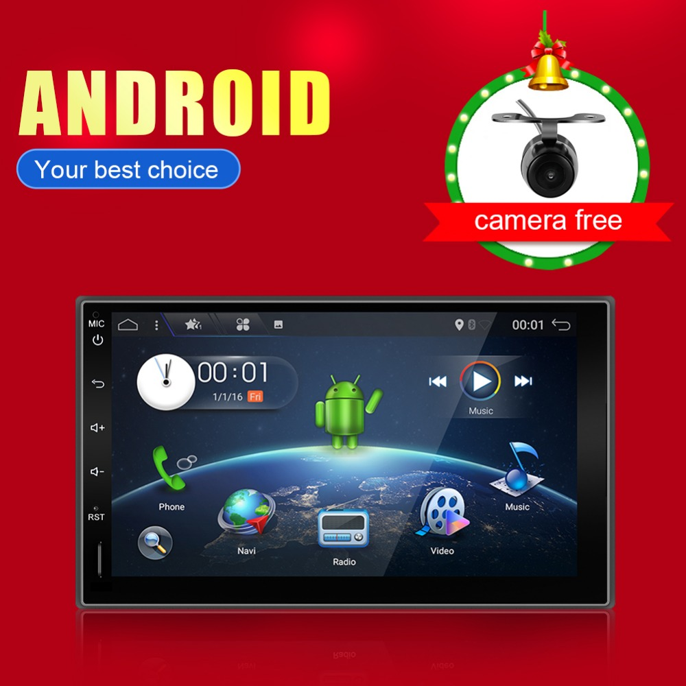 2 Din 7 Car DVD Radio Player 1024*600 Android Universal Car Tap PC Tablet For Nissan GPS Stereo Audio Player(no dvd)