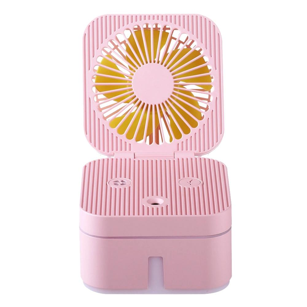 NEW Portable Mini Usb Rechargeable Humidifying Spray Fan Humidifying Fan Combo For Small Desks And Household Fans