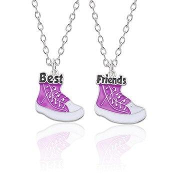 Collares de la Amistad mejores amigos para mujeres 2 uds BFF zapatos de baloncesto COLLAR COLGANTE joyas de Navidad para regalo de moda Femme Bijoux