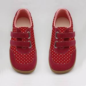 Image 4 - Kids 2020 Toddler Baby Genuine Leather + Fabric Shoe Girls Flower Sneaker Kid Child Causal Trainer Sequin Flat Barefoot