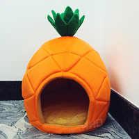 Kreative Zwinger Katze Nest Teddy hund Obst Banane Erdbeere Ananas wassermelone baumwolle bett warme pet Produkte Faltbare Hund haus