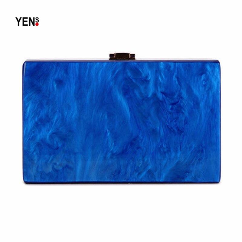 Selbstlos Neue Brieftasche Marke Mode Frauen Umhängetasche Elegante Perle Acryl Kupplung Vintage Frauen Party Marmor Blau Schulter Abend Tasche Kataloge Werden Auf Anfrage Verschickt Damentaschen