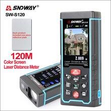Laser-Distance-Meter Rangefinder SNDWAY Sw-S80/s120 Camera Digital Usb-Recharge Colorful-Screen