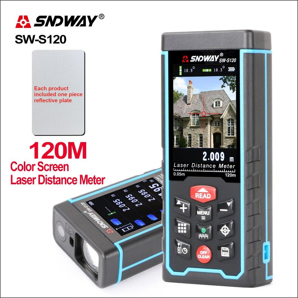 SNDWAY numérique Laser Distance mètre caméra USB Recharge Portable coloré écran télémètre télémètre SW-S80/S120