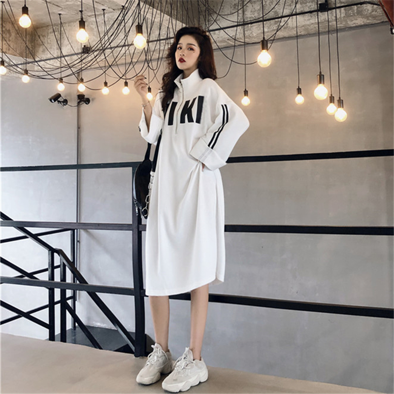 woman dress autumn 2018 vintage korean fashion clothes turtleneck ...
