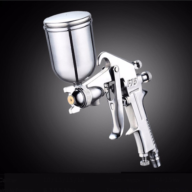 Hot For Professional Pneumatic Spray Gun 400ML Airbrush Sprayer Alloy Painting Atomizer Tool With Hopper For Painting Car