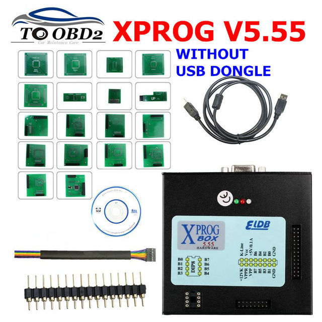 Newest X Prog-M Xprog m V5.55 ECU Chip Tunning Programmer X Prog M Box 5.55 XPROG-M Without USB Dongle