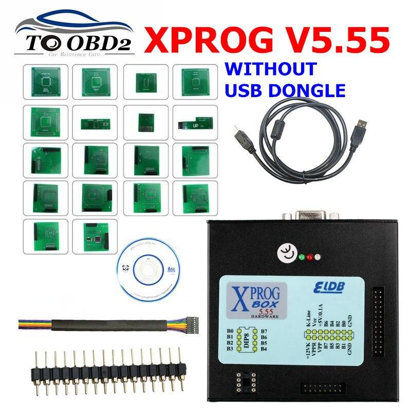 Новейший X Prog M Xprog m V5.55 ECU чип тюнинговый программатор X Prog M Box 5,55 XPROG M без USB ключа