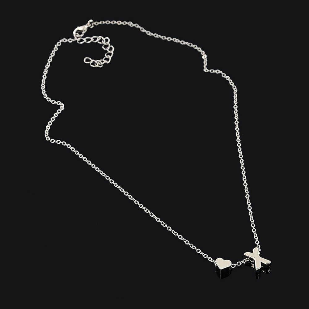 Colar de coração colar de coração de cobre boho namorada colar de gargantilha de jóias de aço inoxidável