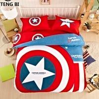 Nieuwe Unieke batman beddengoed sets thuis textiel Amerikaanse hero superman captain america beddengoed set 3 size twin koningin koning voor kids