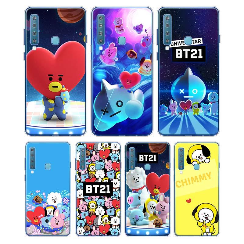 ჱsilicone Soft Phone Case Cute Cartoon Bts Bt21 For Samsung Galaxy A9 A8 Star A7 A6 A5 A3 Plus 2018 2017 2016 Cover A534