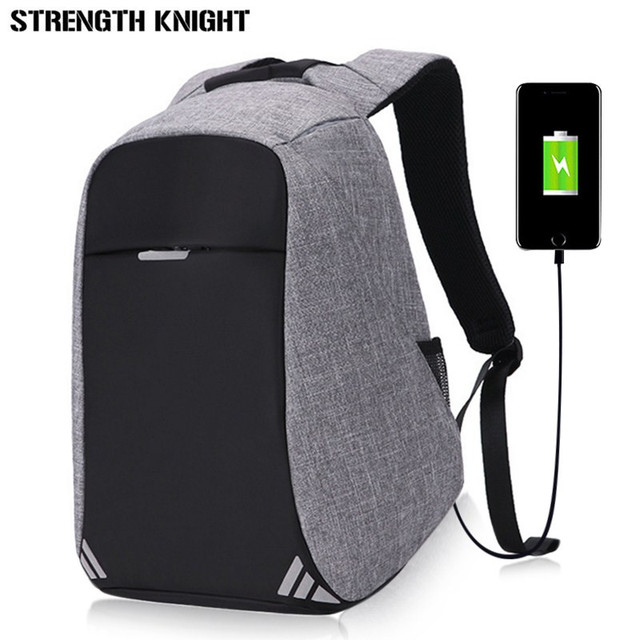 3e323c72ed68 Men s Backpack Bag USB Charge 15inch Laptop Backpacks For Teenager Fashion  Male Mochila Women Leisure Travel backpack anti thief