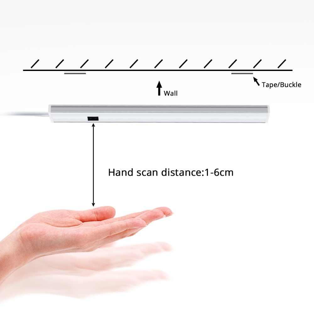 30 см, 40 см, 50 см, 12 В постоянного тока, лампа для чтения рук, датчик волны, светодиодный светильник, жесткая лампа для ночного стола, для чтения, спальни, прикроватное освещение