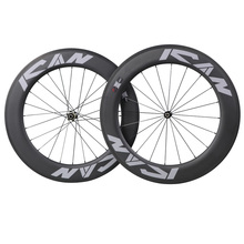 86mm clincher carbon road bike wheels TT wheelset 25mm width with heat resistant 3K surface ship from location warehouse ican carbon road tt bike wheel 86mm clincher tubeless ready ud matte with ican paint rim 27mm width wheels page 8