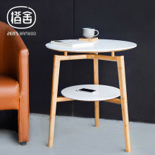 ZEN S BAMBOO Round Table Double Layer Coffee Table Bamboo japanese Tea Table Flower Stool Living
