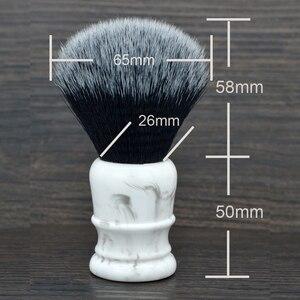 Image 3 - Sintético Suave suave Brocha de afeitar 26mm buena esmoquin nudo y mango de resina para hombre afeitado húmedo