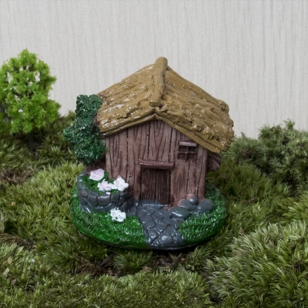 Cottages Miniature Fairy Figurines Resin Bonsai Micro Landscape DIY ...