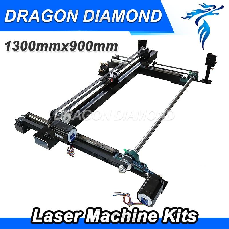 Высочайшее качество CO2 лазерная гравировка комплект 1300 мм * 900 мм один головкой для лазерной резки DIY полные комплекты лазерного механически