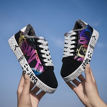 Winter Shoes Men Casual Warm Sneakers For Men Shoes Flats Colorful Couple Shoes Comfortable Plush Student Footwear