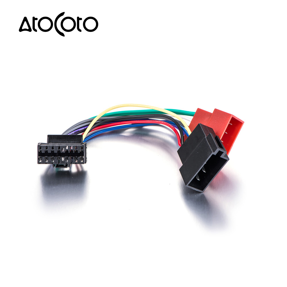 Car Stereo Radio ISO standard Wiring Harness Connector Adapter Cable for  JVC 16 Pin Models-in Cables, Adapters & Sockets from Automobiles &  Motorcycles on ...