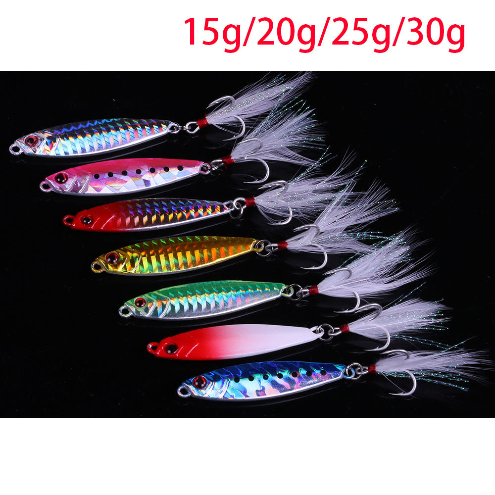 JonStar 1pc/lot 15g20g25g30g Laser metal jig slow Sinking jig wobbler metal spoon fishing lure lead fish for carp lure pike 95g 200g je lead metal sinker jigging lure slow pitch sinking jig deep sea artificial fishing bait saltwater ocean trolling