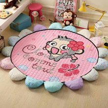 Sunflower Floor Rugs Non-slip Baby Play Mat Floor Rug Kid Game Carpet Baby Crawling Carpets Baby Rugs Diam 1.8 Round Lath Mats