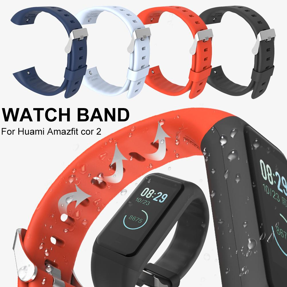 Soft Silicone Watch Band Replacement Wrist Band Strap TPU Watch Band Wristbands For Huami <font><b>Amazfit</b></font> <font><b>Cor</b></font> <font><b>2</b></font> Smart <font><b>Bracelet</b></font> Straps image