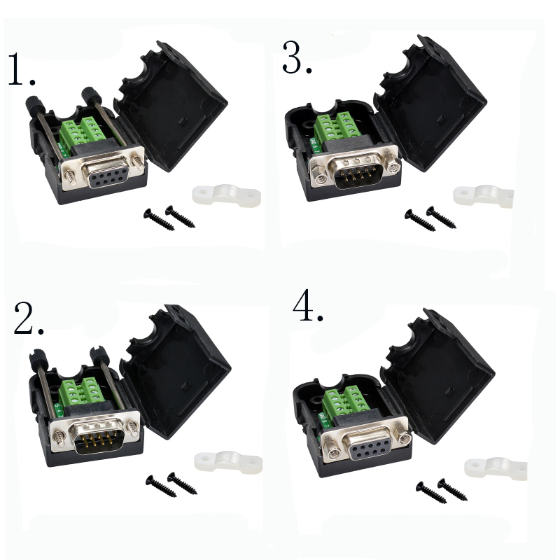 1pcs DB9 serial COM transfer-free solder terminals RS232 female connector D-SUB 9PIN male RS232/rs485/422 connector DIY 50 pcs new d sub 44 pin female solder type plug adapter connector 3 rows serial port connectors