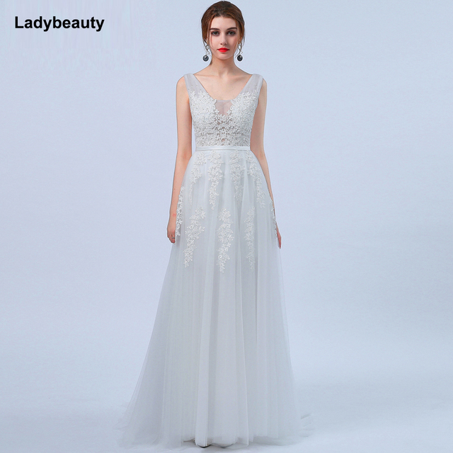 Robe de Mariage Sexy Open Back Bohemian Lace Vintage Boho Beach Wedding  Dress 2018 Romantic Wedding 88456969f999