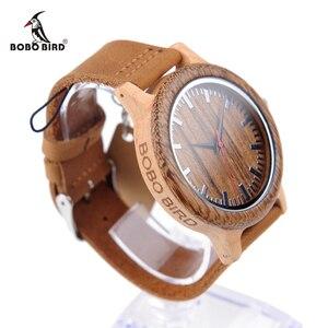 Image 2 - BOBO VOGEL WM14 Wenge Holz Uhr für Männer Kühlen Ahorn Holz Quarz Uhren in Geschenk Box