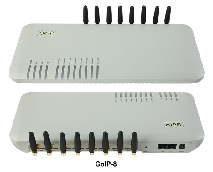 GoIP 8 ports gsm gateway/voip sip gateway/IP GSM Gateway/ GoIP8 VoIP GSM Gateway support SIP/H.323 -sales Promotion goip voip gateway gsm converter sip ip phone adapter goip 1 leds for power ready status wan pc gsm