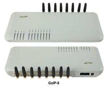 GoIP 8 puertos gsm gateway/voip gateway sip/IP GSM Gateway/GoIP8 Gateway VoIP GSM apoyo SIP /H.323-promoción de ventas