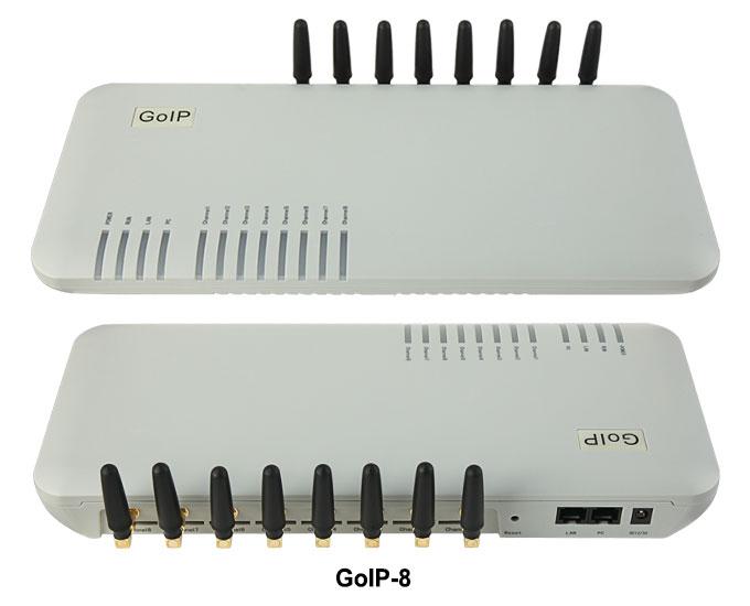 GoIP 8 puertos gsm gateway/voip gateway sip/IP GSM Gateway/GoIP8 pasarela voip gsm apoyo SIP/H.323-promoción de ventas