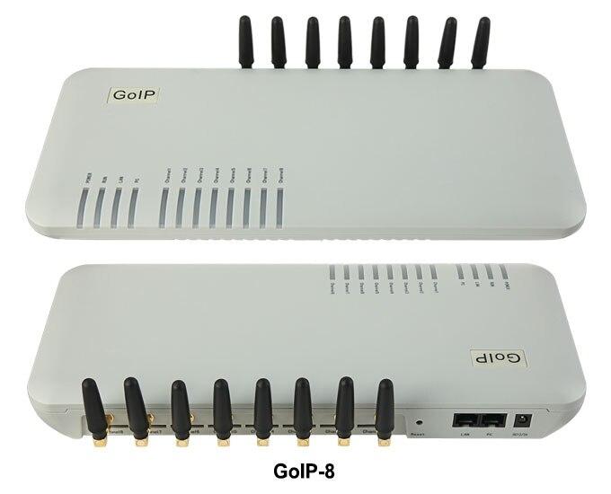 Raog 8 ports passerelle gsm/voip sip passerelle/IP GSM Passerelle/GoIP8 VoIP GSM support de Passerelle SIP/H.323-Promotion des ventes