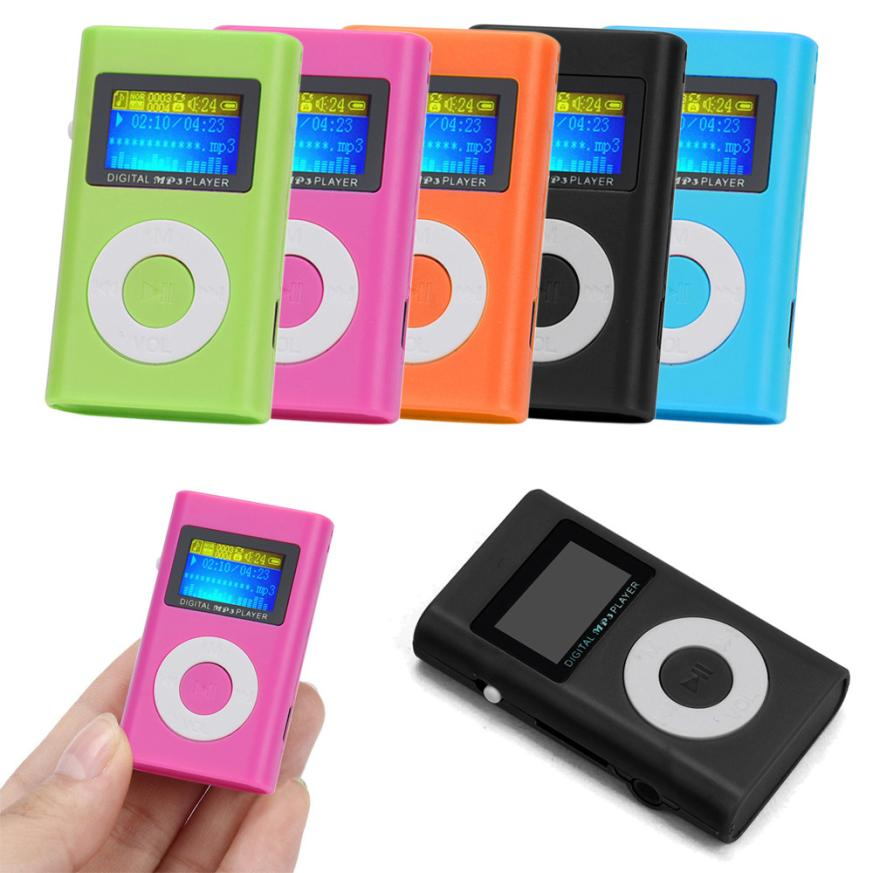 Cute USB Mini LCD Screen Slick Support 32GB Micro SD TF Card Stereo MP3 Player
