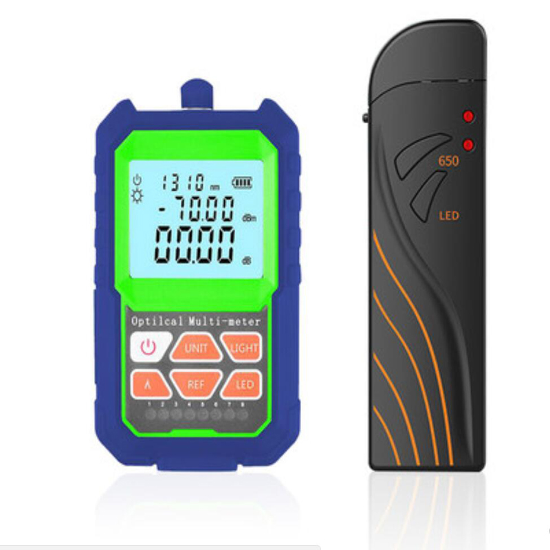 Mini Multifunction RJ45 test Fiber Optic Power Meter and 5mW VFL Visual Fault Finder SC/FC/ST Connector With LED illumination