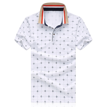 4 colors print M-7XL summer mens polo shirts brands short sleeve polo shirt men polo homme camisa polo masculina P520