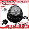 2016 Venda! 48LED Iluminador Infravermelho IR dome CCTV Securit 48 LEDs 850nm Night Vision 40 M Lâmpada de luz 12 V frete grátis