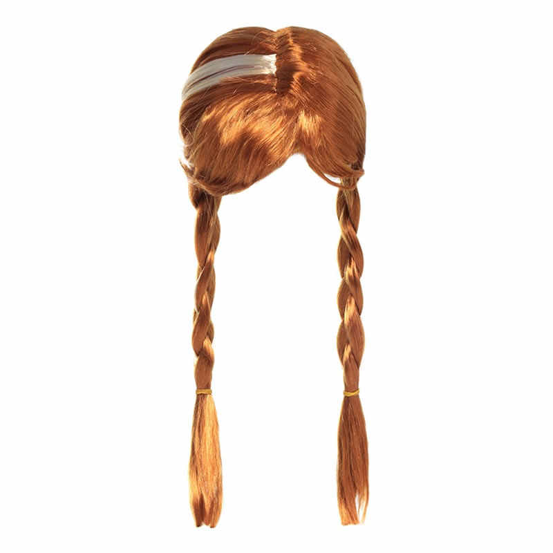 В стиле Русалочки для девочек красный парик для детей с Эльзой и Анной из мультфильма принцессы Авроры платье для косплея Рапунцель оплетка Жасмин с героями мультфильма «Моана»; «божья коровка» «Unicorn Hair для вечерние