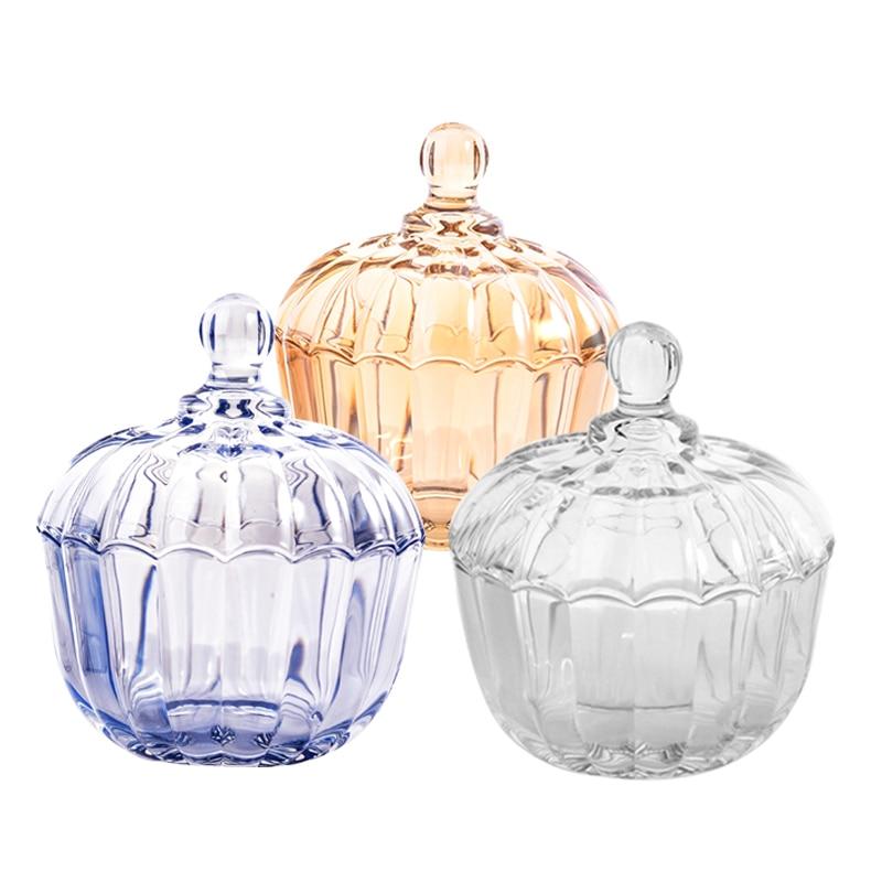 Eenvoudige mode snoep jar kleur glazen pot koffiebonen suiker blikjes - Home opslag en organisatie - Foto 2