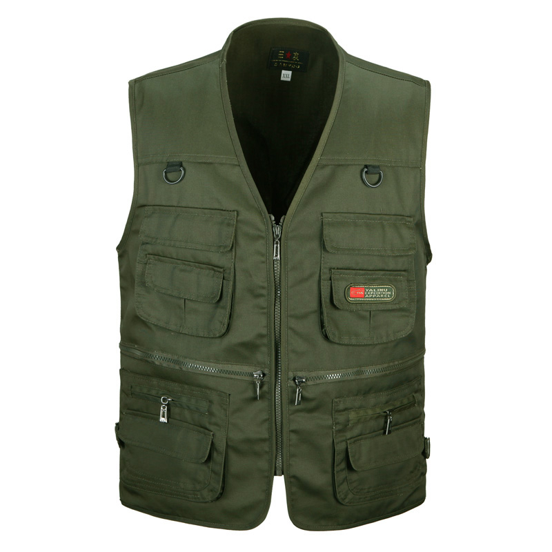 Multi-pocket Classic Waistcoat Male Sleeveless Vest Jacket Men Waterproof Quick Dry Photographer Shooting Mens Vest Size 3xl Jackets & Coats
