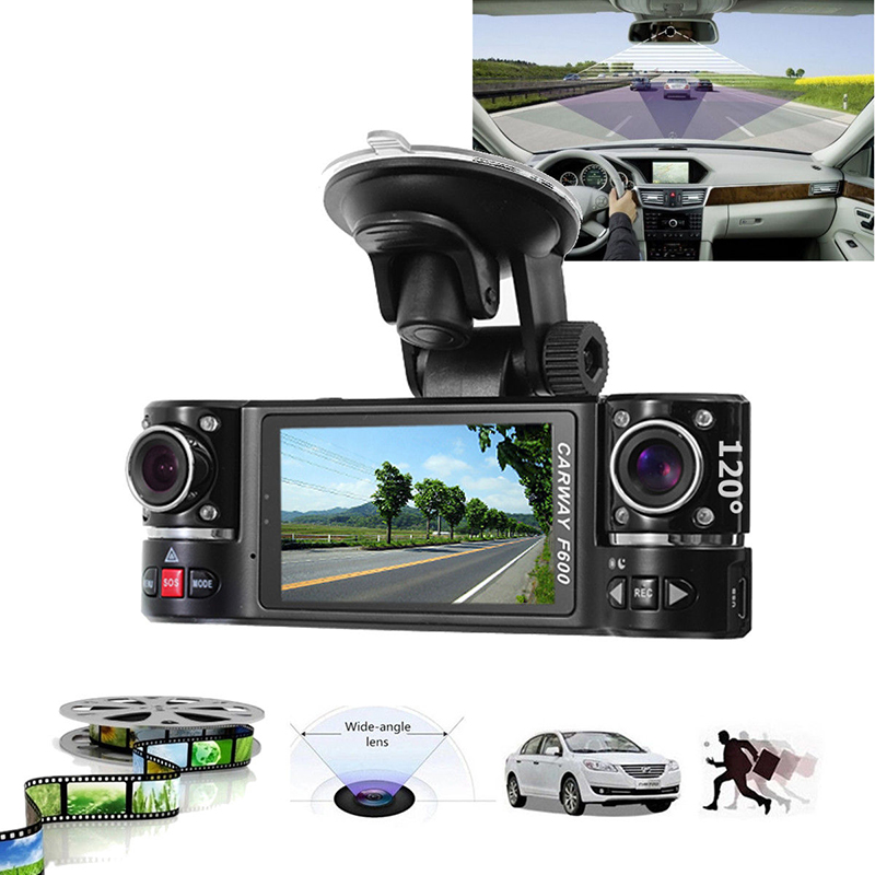 1080P CAR HD DVR Recorder Dash Camera Video Cam Dual Lens Reversing Driving Recorder Video-recording 2.7 16:9 TFT LCD Screen findfine 1 5 inch screen ltps tft lcd 4x digital car driving camera video recorder dvr night g sensor sos m867