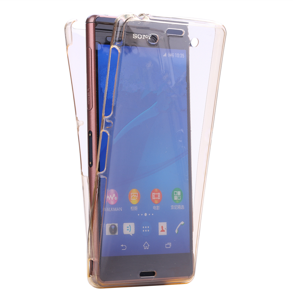 C4 Crystal Touch Full body Transparent Case for Sony Xperia C4 Cover Soft Silicone Phone bag Cases 4C E5333 for Sony Xperia C4