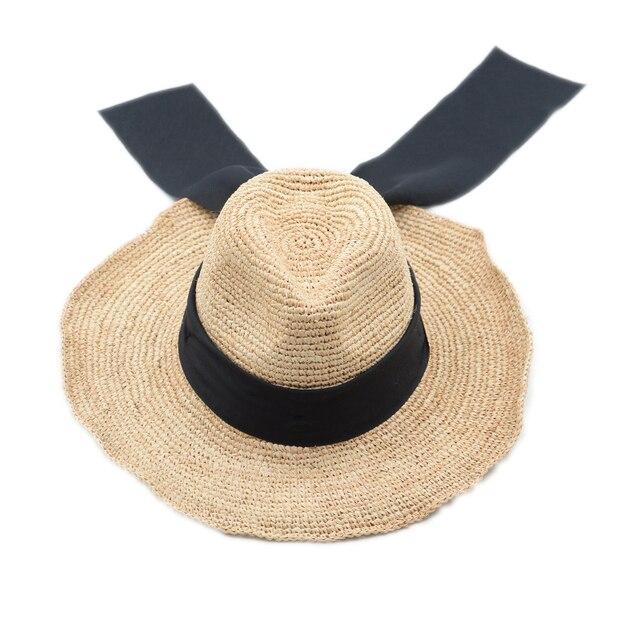 Muchique Cappello Da Cowboy di Estate Beach Sun Hat per Le Donne Rafia  Crochet Fatti A 63775eaec570