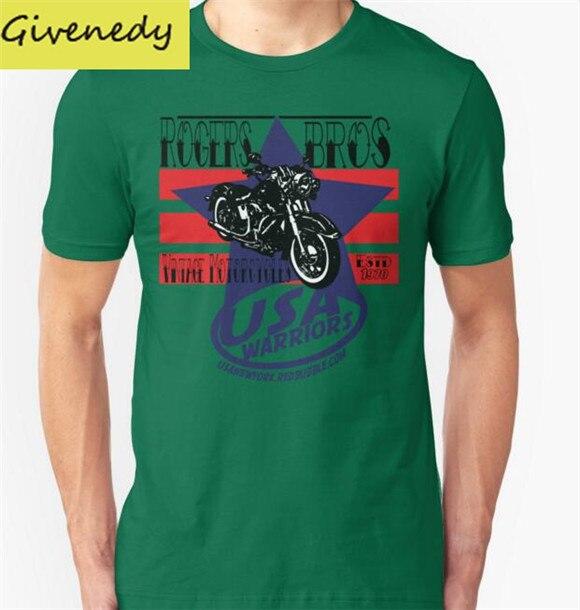 871aa8907b ᐂEua guerreiros da motocicleta por rogers bros Impresso Camisa dos .