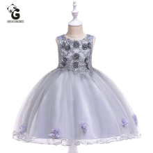 цены Flower Girls Dresses Pageant Prom Party Ball Gowns Girl Princess Marriage Kids Dress for Girls Party Dress Baby First Communion