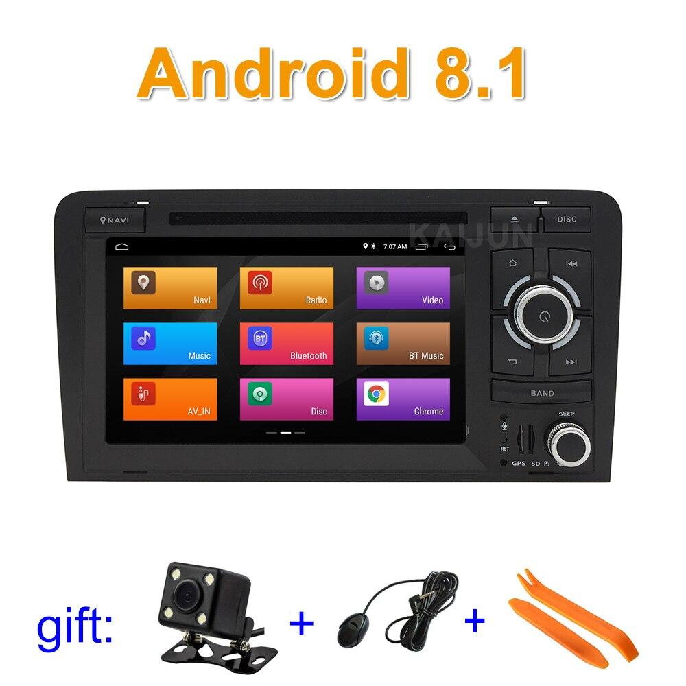 IPS écran Android 8.1 Lecteur DVD de Voiture pour Audi A3 S3 RS3 avec wifi BT GPS Radio stéréo