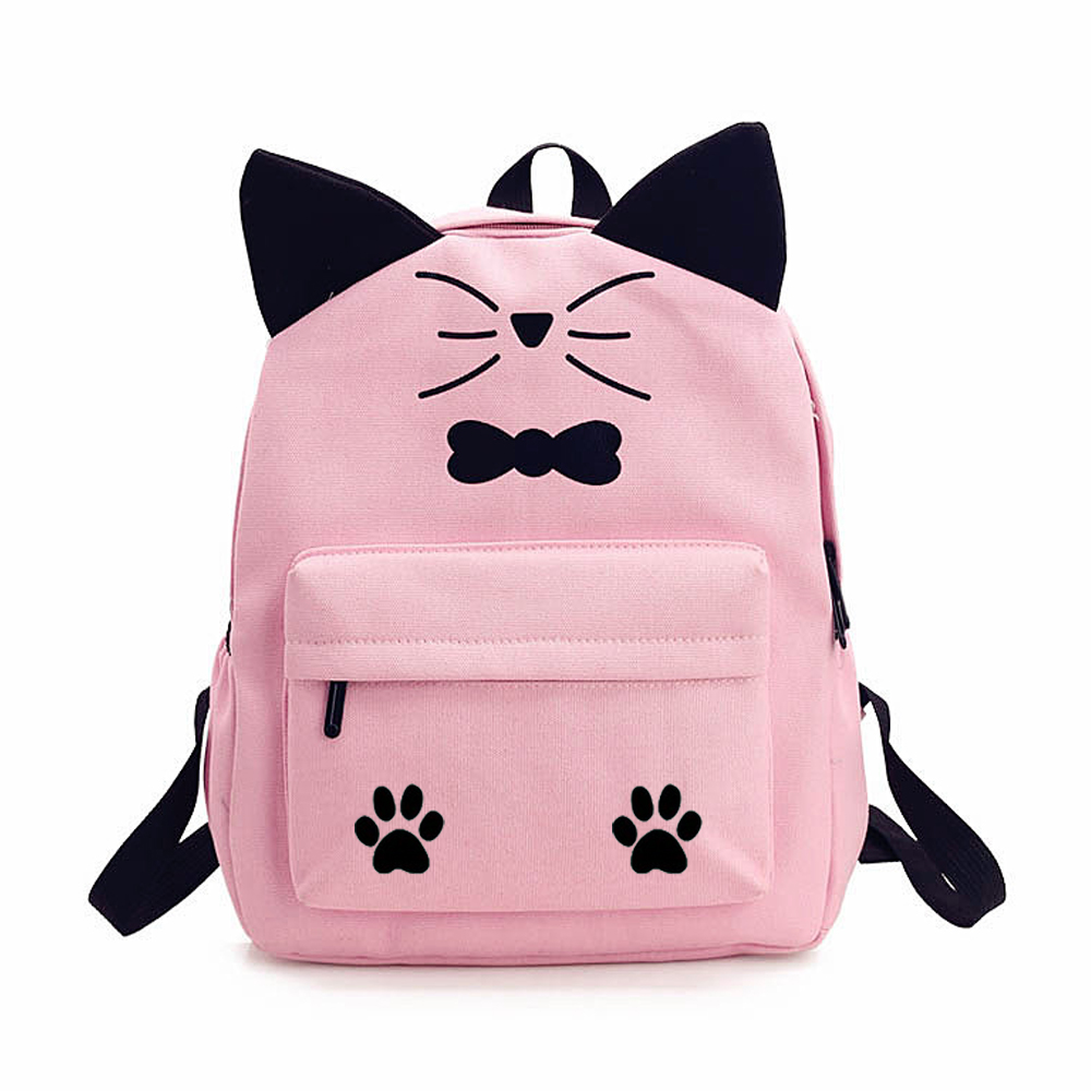 Cute kawaii cat canvas backpack fenix toulouse handball jpg 1000x1000 Cute  kawaii backpacks 5931b72f3202d