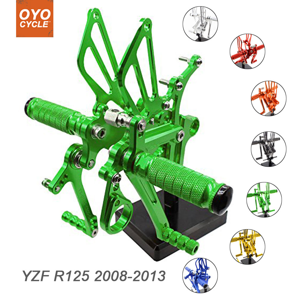 For Yamaha YZF-R125 2008-2013 Motorcycle Rear Set Accessories CNC Adjustable Rearset Foot Pegs YZF R125 Foot Rests Footpegs