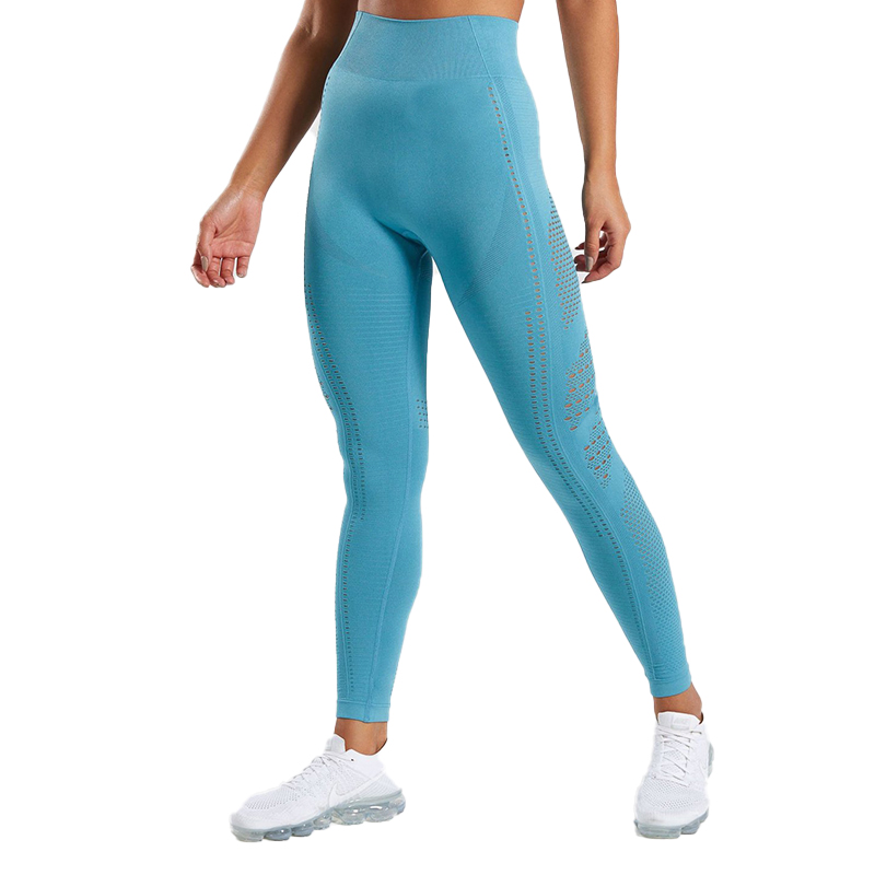 918d8dce17cda High Waisted Workout Yoga Sports Fitness Pants Jogger Quick Dry Eyelet  Shark Seamless